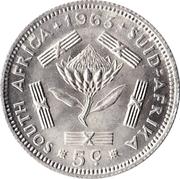 5 cents - Van Riebeeck -  revers