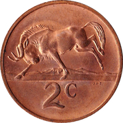 2 cents - Swart (en anglais - SOUTH AFRICA) -  revers