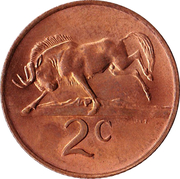 2 cents (SOUTH AFRICA - SUID AFRIKA) -  revers