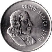 20 cents - Van Riebeeck (en anglais - SOUTH AFRICA) -  avers
