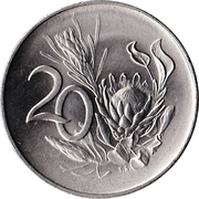 20 cents - Van Riebeeck (en anglais - SOUTH AFRICA) -  revers