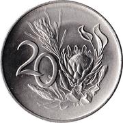 20 cents - Van Riebeeck (en anglais - SOUTH AFRICA) -  revers