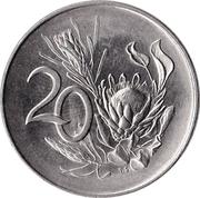 20 cents - Van Riebeeck (en afrikaans - SUID AFRIKA) -  revers