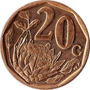 20 cents (en Venda  - AFURIKA TSHIPEMBE) -  revers