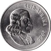 50 cents  - Van Riebeeck (en afrikaans - SUID AFRIKA) -  avers