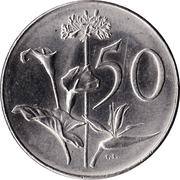 50 cents  - Van Riebeeck (en afrikaans - SUID AFRIKA) -  revers