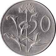 50 Cents - Charles Swart (en anglais - SOUTH AFRICA) -  revers