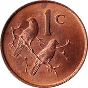 1 cent - Charles Swart (en afrikaans - suid-afrika) -  revers