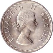 5 shillings - Elizabeth II (1ere effigie) -  avers