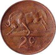 2 cents - Van Riebeeck  (en afrikaans - SUID AFRIKA) -  revers