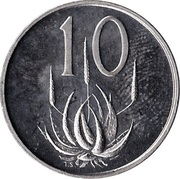 10 cents - Charles Swart (en Afrikaans - SUID AFRICA) – revers