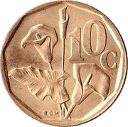 10 cents (SUID-AFRIKA - SOUTH AFRICA) -  revers