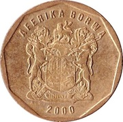 20 cents (en tswana - AFERIKA BORWA) -  avers