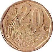 20 cents (en tswana - AFERIKA BORWA) -  revers
