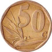 50 cents (en sepedi / sesotho - AFRIKA BORWA) -  revers
