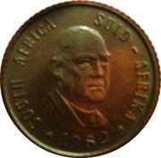 ½ cent (Balthazar J. Vorster) – avers