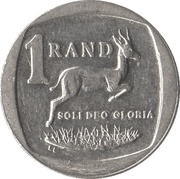 1 rand (en Xhosa et Afrikaans - SUID AFRIKA) -  revers