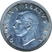 2 shillings - George VI (Type 1) -  avers