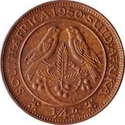¼ penny - George VI (SOUTH AFRICA - SUID AFRIKA) -  revers