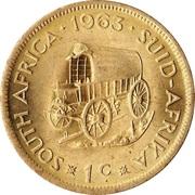 1 cent - Van Riebeeck -  revers