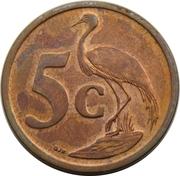 5 cents (en xhosa - UMZANTSI AFRIKA) -  revers