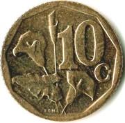 10 cents (en Ndebele - ISEWULA AFRIKA) -  revers