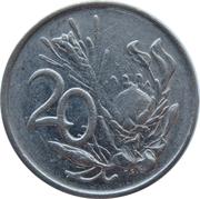 20 cents (Nicolaas J. Diederichs) -  revers