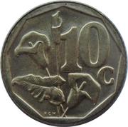 10 cents (en zoulou - ININGIZIMU AFRIKA) -  revers