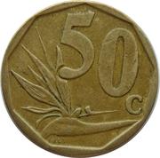 50 cents (en zoulou - ININGIZIMU AFRIKA) -  revers