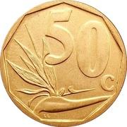 50 cents (Afrika Borwa - Aforika Borwa) -  revers
