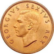 ½ Penny - George VI (SUID AFRIKA - SOUTH AFRICA) – avers