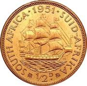 ½ Penny - George VI (SUID AFRIKA - SOUTH AFRICA) – revers