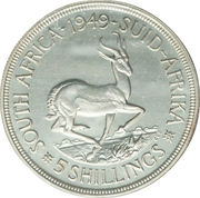 5 shillings - George VI (SOUTH AFRICA - SUID-AFRIKA) -  revers