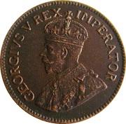 ¼ Penny  George V  KM#12.2  (1926-1930) -  avers