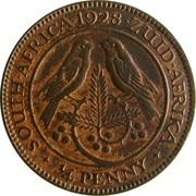 ¼ Penny  George V  KM#12.2  (1926-1930) -  revers