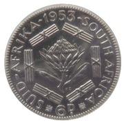 6 pence - Elizabeth II (1ere effigie) -  revers
