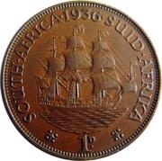 1 Penny George V KM#14.3 (1931-1936) -  revers