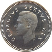 3 pence - George VI -  avers