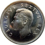 6 pence - George VI (SUID AFRIKA - SOUTH AFRICA) -  avers