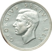 5 shillings - George VI (SOUTH AFRICA - SUID-AFRIKA) -  avers