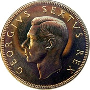 ½ Pound - George VI – avers