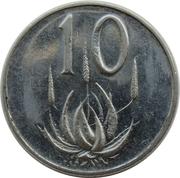10 cents (Jacobus J. Fouché) -  revers