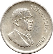 1 rand - T.E. Dönges (en Afrikaans - SUID AFRIKA) -  avers