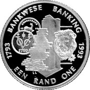 1 rand (200 ans de banque) – revers