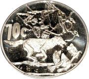 10 cents Silver Proof (Jackal) – revers