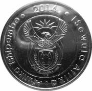 5 rand (20 ans de liberté) -  avers