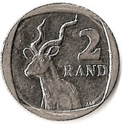 2 rand (en Tswana et Sepedi - AFORIKA BORWA) -  revers