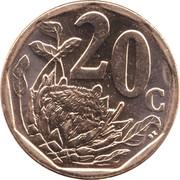 20 cents (en tswana - AFORIKA BORWA) -  revers