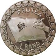1 Rand (Signing Of The New South African Constitution ; Protea Silver Bullion Coinage) – revers