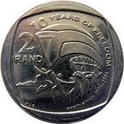 2 rand (10 ans de liberté) – revers